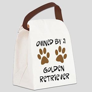 golden retriever Canvas Lunch Bag