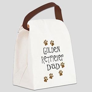 Golden Retriever Dad Canvas Lunch Bag