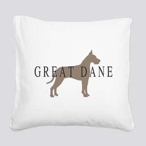 greytones great dane wd Square Canvas Pillow