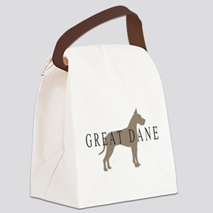 greytones great dane wd Canvas Lunch Bag