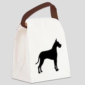 great dane black Canvas Lunch Bag