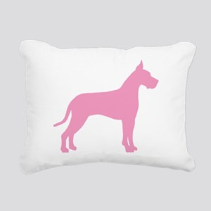 great dane pink Rectangular Canvas Pillow