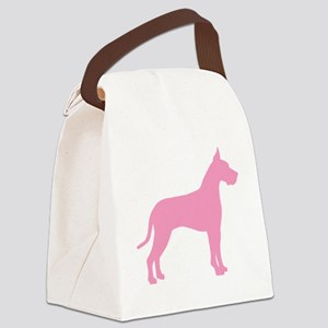 great dane pink Canvas Lunch Bag