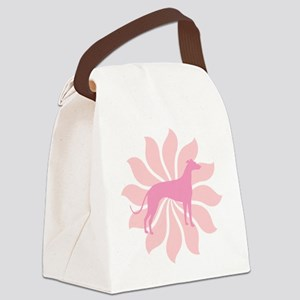 pink flower Canvas Lunch Bag
