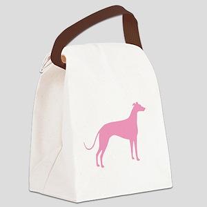 greyhound basic pink Canvas Lunch Bag