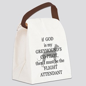 greyhound flight attendant Canvas Lunch Bag