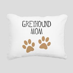 greyhound mom big pawprints Rectangular Canvas