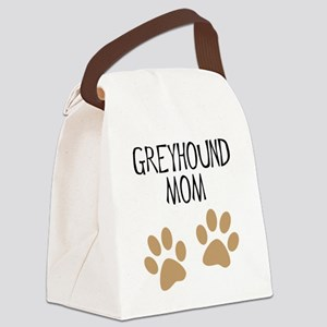 greyhound mom big pawprints Canvas Lunch Bag