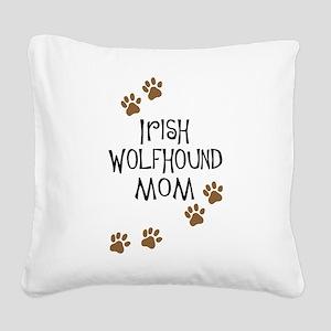 irish wolfhound mom Square Canvas Pillow