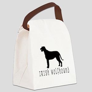 irish wolfhound dog text2 wd Canvas Lunch Bag