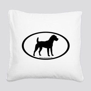jack russel terrier oval Square Canvas Pillow