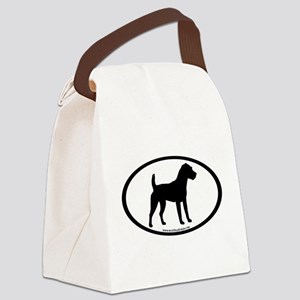 jack russel terrier oval Canvas Lunch Bag