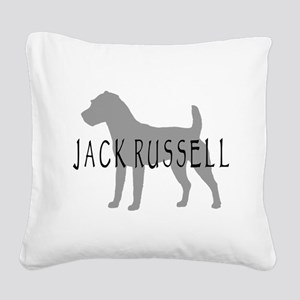 jack russell terrier dog grey orn Square Canva