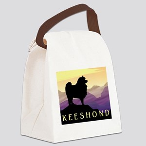 purple mountains keeshond wd Canvas Lunch Bag