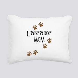 Labrador Mom Rectangular Canvas Pillow