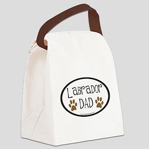 labrador dad car sticker Canvas Lunch Bag