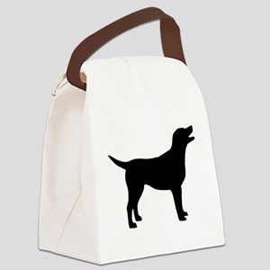 labrador black Canvas Lunch Bag