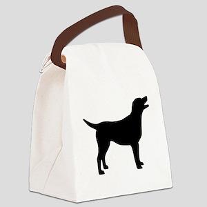 labrador black Canvas Lunch Bag