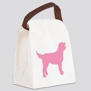 labradoodle pink Canvas Lunch Bag