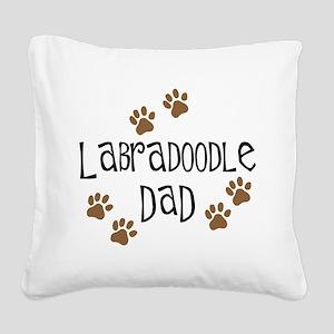 3-labradoodle dad Square Canvas Pillow