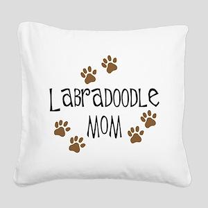 3-labradoodle mom Square Canvas Pillow
