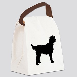 labradoodle white Canvas Lunch Bag