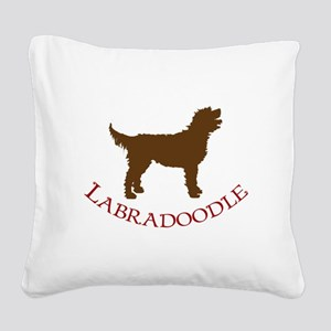 labradoodles brown red Square Canvas Pillow