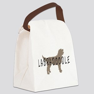 labradoodle basic2wd Canvas Lunch Bag