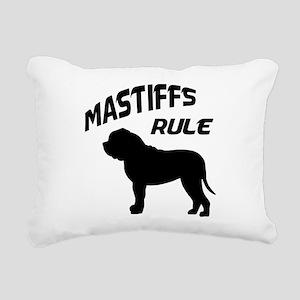 mastiffs rule Rectangular Canvas Pillow