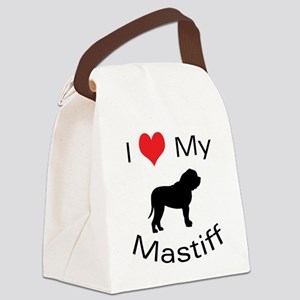 i heart my mastiff Canvas Lunch Bag
