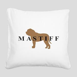 mastiff text Square Canvas Pillow