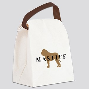 mastiff text Canvas Lunch Bag