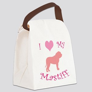 i heart my mastiff pink Canvas Lunch Bag
