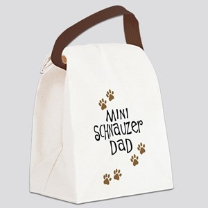 mini schnauzer dad Canvas Lunch Bag