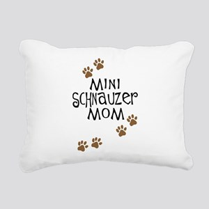 mini schnauzer mom Rectangular Canvas Pillow
