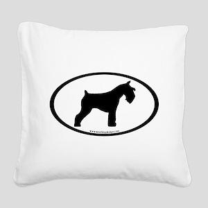mini schnauzer Square Canvas Pillow