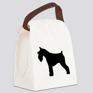 miniature schnauzer black Canvas Lunch Bag