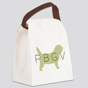 pbgv sage text Canvas Lunch Bag