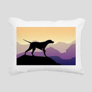 Purple Mountains Pointer Rectangular Canvas Pillow
