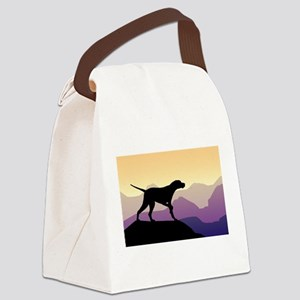 Purple Mountains Pointer Canvas Lunch Bag
