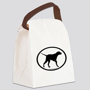 pointer dog oval Canvas Lunch Bag