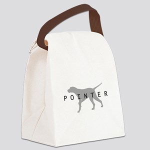 pointer dog grey txt Canvas Lunch Bag