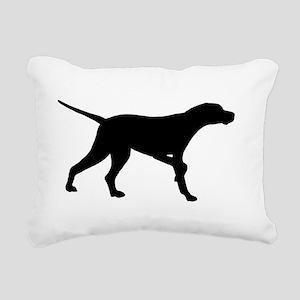Pointer Dog On Point Rectangular Canvas Pillow
