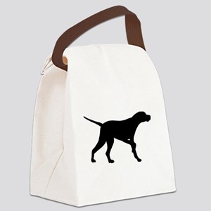 Pointer Dog On Point Canvas Lunch Bag