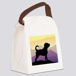 purple mountains puggle wd4 Canvas Lunch Bag