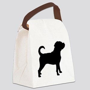Puggle Dog Canvas Lunch Bag