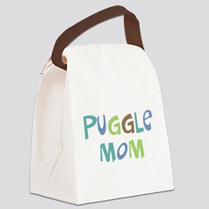 Puggle Mom (Text) Canvas Lunch Bag