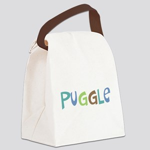 Puggle (Text) Canvas Lunch Bag