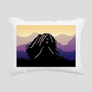 purple mt puli wd2 Rectangular Canvas Pillow