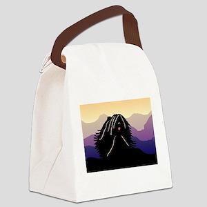 purple mt puli wd2 Canvas Lunch Bag